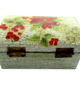 Cutie de bijuterii decorata cu Craciunita