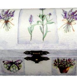 Cutie de bijuterii decorata cu lavanda